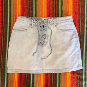 PacSun Lightwash Denim Mini-skirt